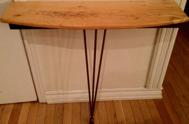 Image of condo-sized hallway console table