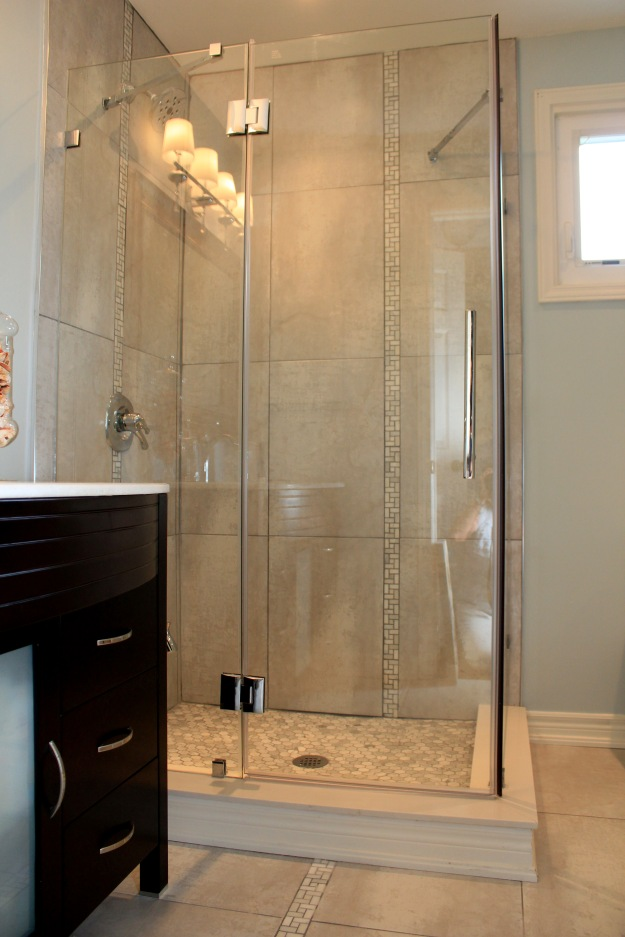 Picture of new corner shower