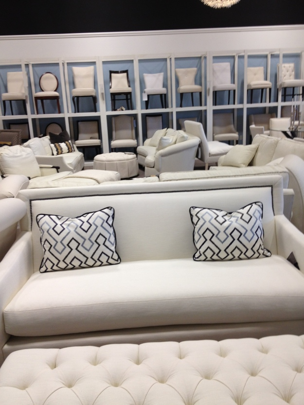 Image of furniture on the showroom floor at Gresham House